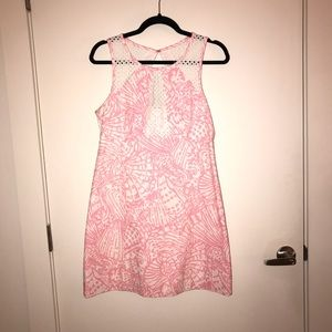 Pink and white Lily dress